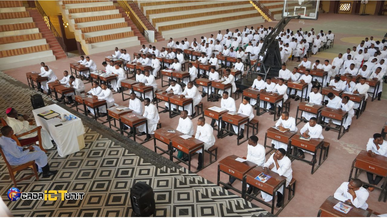 Bishop Chukwu in a session with his seminarians